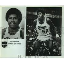 Press Photo Kansas City Kings basketball player Bill Robinzine - sas14456