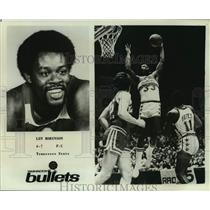 Press Photo Washington Bullets basketball player Len Robinson - sas14459
