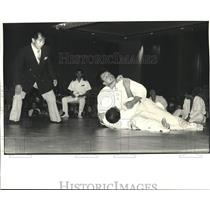 1982 Press Photo Exhibition of the Japanese Judo naval training squadron.