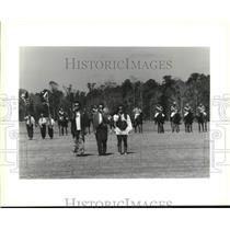 1993 Press Photo The Dixie Cups sings national anthem- Innisree Farms in Folsom