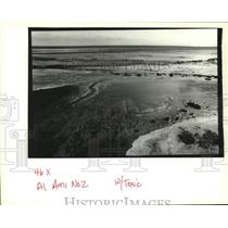 1994 Press Photo Foam and Gypsum flow in a stream of water in an active sound.