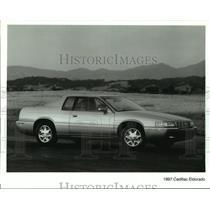 Press Photo The new 1997 Cadillac Eldorado car shown on the road - not03365