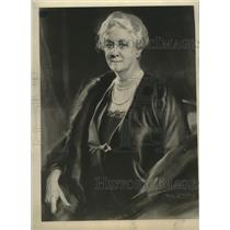 1934 Press Photo Tade Styka Portrait of Mrs. James Roosevelt at the White House