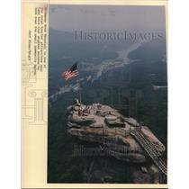 1988 Press Photo Chimney Rock Mountain is a local tourist attraction - lrx01536
