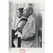 1955 Press Photo Prince Surambrit and wife, Phnom Penh, Cambodia - mjx51645