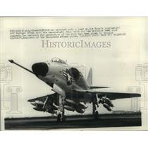 1960 Press Photo A4D Skyhawk Moves Into Heavyweight Class With Bomb Rack Adapter