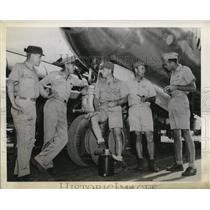 1944 Press Photo The officers of the Superfortress plane based in Saipan