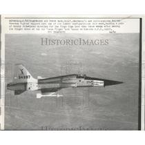 1959 Press Photo The multi purpose N-156F Freedom Fighter during flight debut