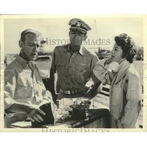 """1963 Press Photo Fred Astaire, Gregory Peck, Ava Gardner in """"On the Beach"""""""