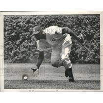 1962 Press Photo Chicago Cubs' Andre Rodgers barehanded pickup a ground ball.