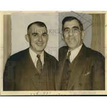 Press Photo Baseball - Roger Peckinpaugh of NY Yankees & Larry Gilbert of Braves