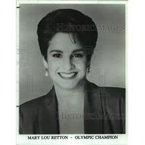 Press Photo Olympic gymnastics champion Mary Lou Retton - sas15236