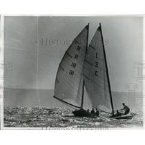 1958 Press Photo Sail boats at the Inland Lakes Yachting association regatta