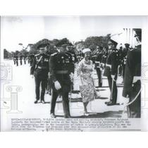 Press Photo Princess Margaret Inspects Cadets at the Royal Military Academy
