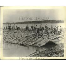1934 Press Photo Funds used for flood work on Mississippi River, St. Louis area.