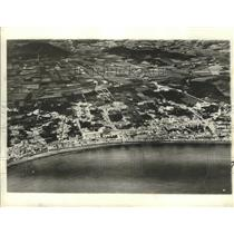 1941 Press Photo An air view of the city of Horta, made from a German zeppelin.
