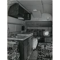1976 Press Photo Living area inside a helicopter - hca30253