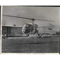 1962 Press Photo Aboard Helicopter are Walter Krstich and Dick Martin