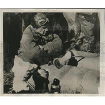 1939 Press Photo Brig. Gen. Kokkinaki on a Pneumatic life raft waiting for aid