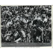 1989 Press Photo Packers football players, Brent Fullwood and Sterling Sharpe