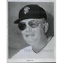 1973 Press Photo San Francisco Giants baseball manager, Charlie Fox - mjt04016