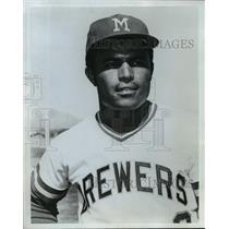 Press Photo Milwaukee Brewers baseball player, Pedro Garcia - mjt04013