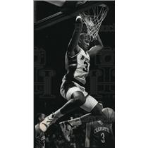 1990 Press Photo Bucks basketball player Greg Anderson during jam session