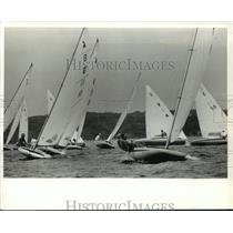 1992 Press Photo Sailboats at Wisconsin Yachting Association Championship race