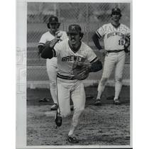 1978 Press Photo Brewers baseball catcher Ray Fosse during spring training
