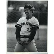 1978 Press Photo Milwaukee Brewers baseball player, Ray Fosse, in happier times