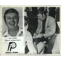 1979 Press Photo Bob Leonard, Indiana Pacers basketball team's GM & Coach