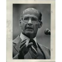 1979 Press Photo Dallas Cowboys football coach, Tom Landry at prayer breakfast