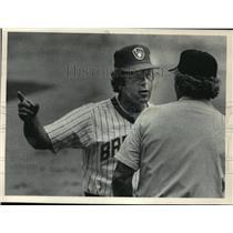 1984 Press Photo Milwaukee Brewers baseball manager, Rene Lachemann - mjt03462