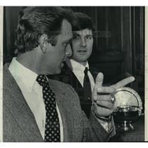 1984 Press Photo Brewers baseball manager Rene Lachemann & catcher, Jim Sundberg
