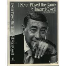"""1985 Press Photo Sportscaster, Howard Cosell-Book """"I never played the game"""""""