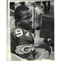1986 Press Photo Tim Harris, Green Bay Packers football defensive end-linebacker