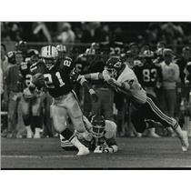 1988 Press Photo Bay Packers football's Brent Fullwood gets loose in 2nd quarter