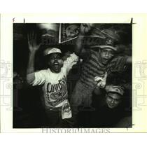 1993 Press Photo Dallas Cowboys fans celebrate a Super Bowl win over Buffalo