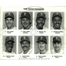 1994 Press Photo Texas Rangers baseball mug shots - sas15671
