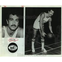 Press Photo New Jersey Nets basketball player Dave Wohl - sas16205