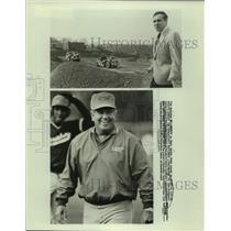 1989 Press Photo Football coach Sam Rutigliano, baseball coach Bobby Richardson