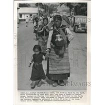 1962 Press Photo Tezpur, Assam-Monpa women fleeing from from Chinese Communists