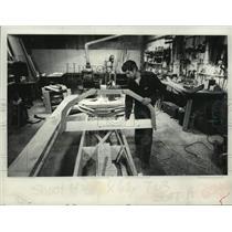 1882 Press Photo Boat in progress at North River Boat Works, Albany, New York