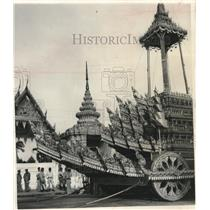 1950 Press Photo Large ornate carriage in Thailand - mjx61265