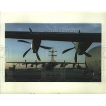 1998 Press Photo Lockheed brought Martin C-130J to the Wing's Middle Town Pa.