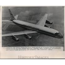 1963 Press Photo stock photo of a Douglas DC-8 jet airliner - mjw01291