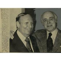 1976 Press Photo Baseball owners Gene Autry and Charles Finley - sas09693