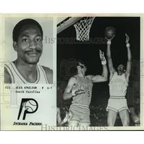 1978 Press Photo Indiana Pacers basketball player Alex English - sas09732