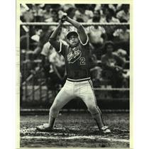 1983 Press Photo Laredo High baseball player Alfredo Gonzalez - sas10213