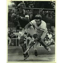 1986 Press Photo Jay and Travis high schools play prep baseball - sas10221
